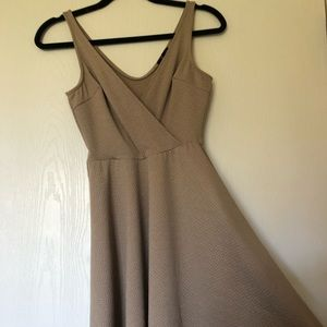 Soprano skater beige cream dress